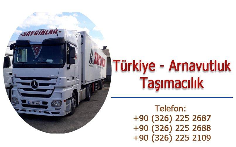 Arnavutluk Türkiye taşımacılık