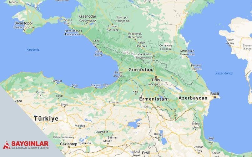 Gürcistan Parsiyel Nakliye Güzergahları
