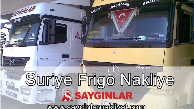 Suriye Frigo Nakliye